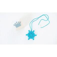 """Silikoninis pakabukas-kramtukas """"Jūra"""", mėlynos spalvos"""