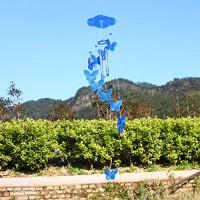 Vėjo varpelis Drugeliai, 70 cm - mėlynas