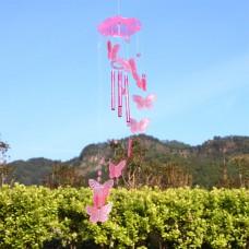 Vėjo varpelis Drugeliai, 70 cm - rožinis